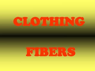 CLOTHING  FIBERS
