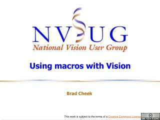 Using macros with Vision