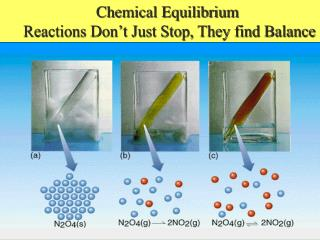 Chemical Equilibrium  Reactions Don't Just Stop, They find Balance