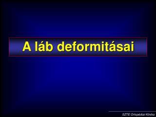 A l b deformit sai