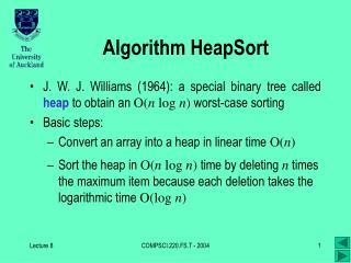 Algorithm HeapSort