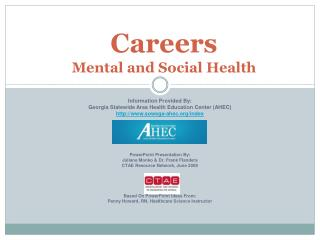 Careers  Mental and Social Health