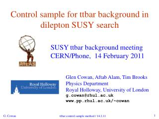 Control sample for ttbar background in dilepton SUSY search
