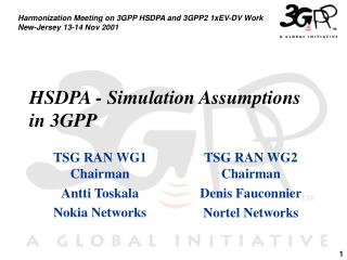 HSDPA - Simulation Assumptions in 3GPP
