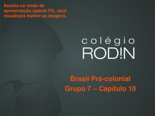 Brasil Pré-colonial  Grupo 7 – Capítulo 10