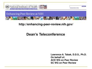 Dean's Teleconference