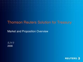 Thomson Reuters Solution for Treasury