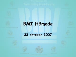 BMI HBmøde