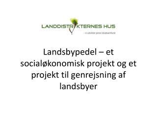 Landsbypedel – et socialøkonomisk projekt og et projekt til genrejsning af landsbyer