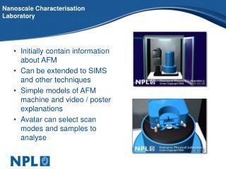 Nanoscale Characterisation Laboratory