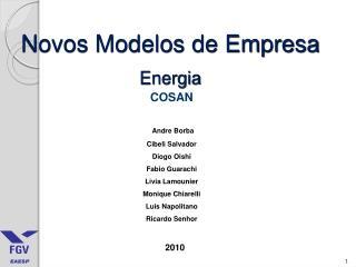 Novos Modelos de Empresa Energia