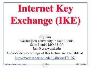 Internet Key Exchange (IKE)