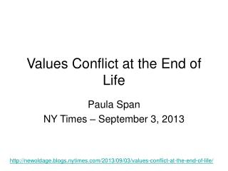 Values Conflict at the End of Life