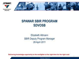 SPAWAR SBIR PROGRAM SDVOSB