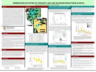 REMEDIATION ACTIVITIES AT STEWART LAKE AND SELENIUM REDUCTIONS IN BIOTA