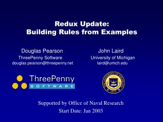 Redux Update: Building Rules from Examples