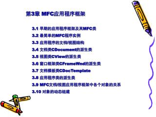 第 3 章  MFC 应用程序框架