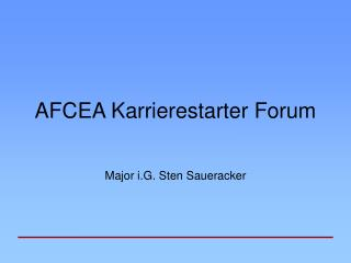AFCEA Karrierestarter Forum