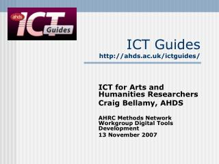 ICT Guides ahds.ac.uk/ictguides/
