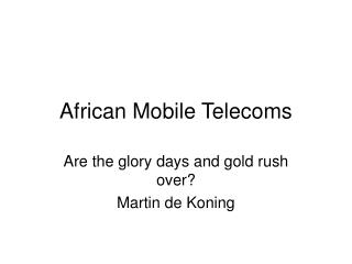 African Mobile Telecoms