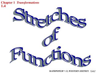 Stretches  of  Functions