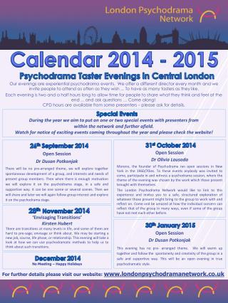 Calendar 2014  -  2015