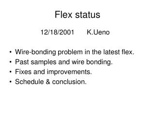 Flex status