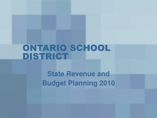 ONTARIO SCHOOL DISTRICT
