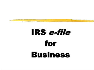 IRS  e-file for  Business