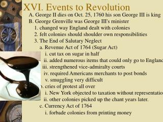 XVI. Events to Revolution