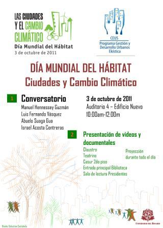 DÍA MUNDIAL DEL  H ÁBITAT Ciudades  y Cambio Climático
