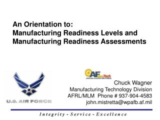 Chuck Wagner Manufacturing Technology Division