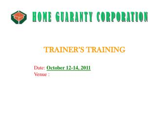 Date:  October 12-14, 2011