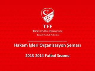Hakem İşleri Organizasyon Şeması 2013-2014 Futbol Sezonu