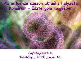 Sajtótájékoztató Tatabánya, 2013. január 16.