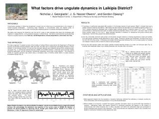 What factors drive ungulate dynamics in Laikipia District?