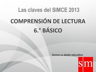 COMPRENSI�N  DE LECTURA 6.� B�SICO