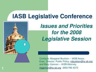 IASB Legislative Conference