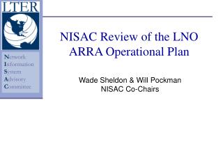 NISAC Review of the LNO ARRA Operational Plan