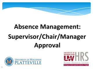 Absence Management: Supervisor/Chair/Manager