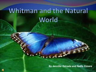 Whitman and the Natural World