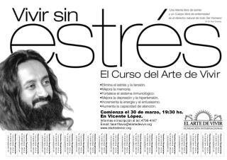 Comienza el 30 de marzo, 19:30 hs. En Vicente López. Informes e inscripción al tel.:4796-4167