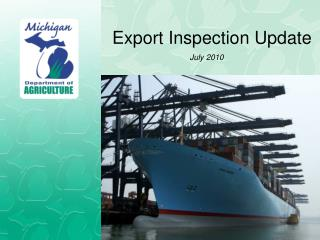 Export Inspection Update