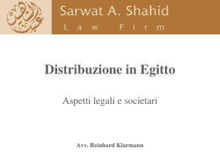 Distribuzione in Egitto
