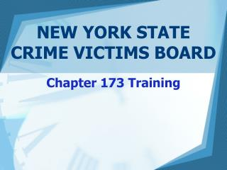 NEW YORK STATE  CRIME VICTIMS BOARD