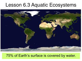 Lesson 6.3 Aquatic Ecosystems