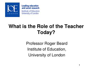 What is the Role of the Teacher Today?