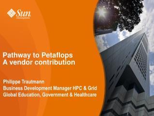 Pathway to Petaflops A vendor contribution