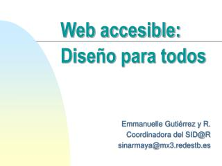 Web accesible: