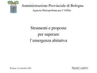 Strumenti e proposte per superare l'emergenza abitativa